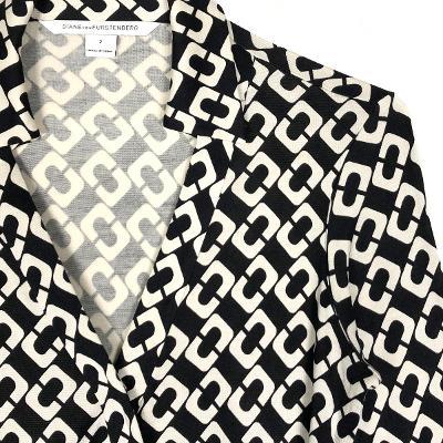 geometric wrap dress